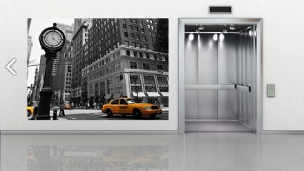 "Wall mural wallpaper New York ""Clock"""
